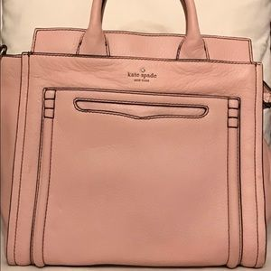 Kate Spade EUC Large  Pink Pebbled leather ToteBag